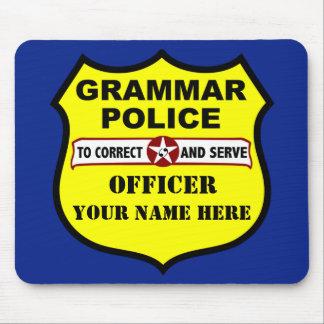 Personalizable Mousepad de la policía de la gramát
