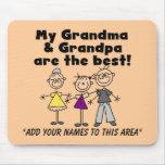 Personalizable Mousepad del chica y de los abuelos Tapetes De Ratones