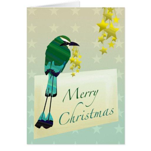 Personalizable: ¡Navidad Motmot! Tarjeta De Felicitación