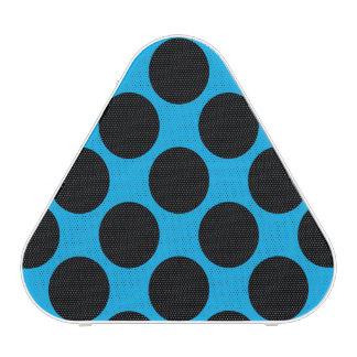 Personalizable negro de los lunares altavoz bluetooth