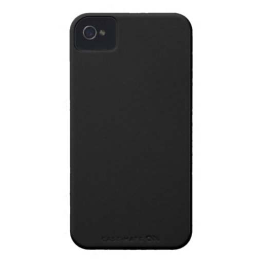 Personalizable negro llano iPhone 4 Case-Mate carcasa