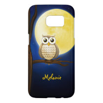Personalizable Night Owl Samsung Galaxy S7 Case