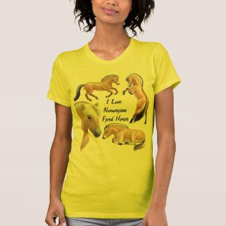 Personalizable noruego del amor del caballo del fi camiseta