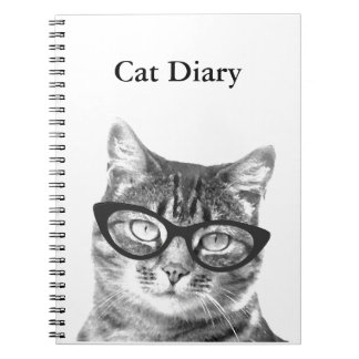 Personalizable notebook with funny cat photo