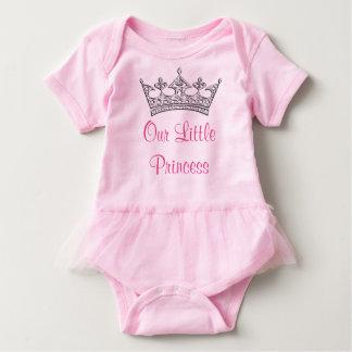 Personalizable nuestro pequeño tutú de la princesa body para bebé