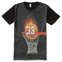 Personalizable Number | Basketball Sport Gift All-Over-Print T-Shirt