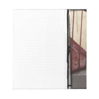 Personalizable ocre de la libreta el | de la verja bloc de papel