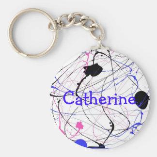 Personalizable Paint Splatter Key Chain