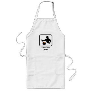 Personalizable para un hombre que cocina delantal
