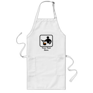Personalizable para un hombre que cocina delantal largo