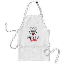 Personalizable pasta apron with custom name