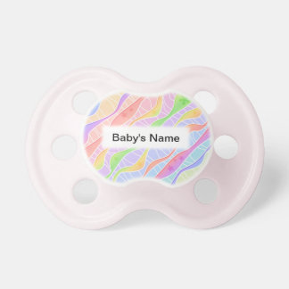 Personalizable PASTEL STRIPES BABY PACIFIER