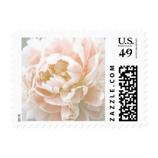 Personalizable Peach Peony Floral Postage Stamps