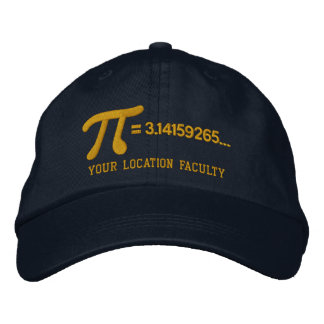 Personalizable Pi Formula Embroidered Baseball Caps