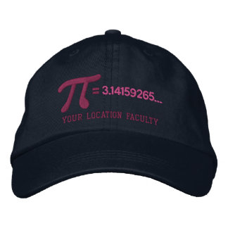 Personalizable Pi Formula Embroidered Hat
