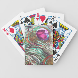 Personalizable: Plumas del pavo real Baraja Cartas De Poker