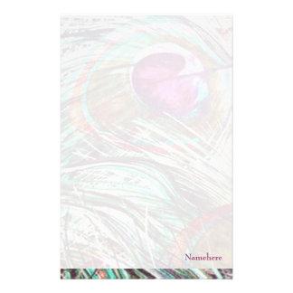 Personalizable: Plumas del pavo real Papeleria Personalizada