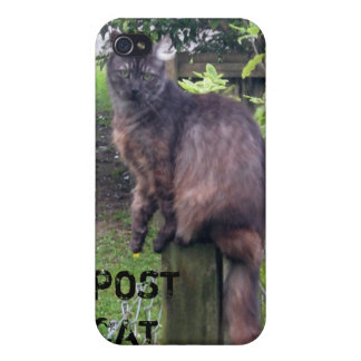 "Personalizable ""Post"" Cat iPhone4 Case iPhone 4 Case"
