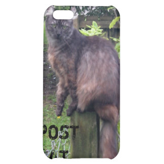 "Personalizable ""Post"" Cat iPhone4 Case Case For iPhone 5C"