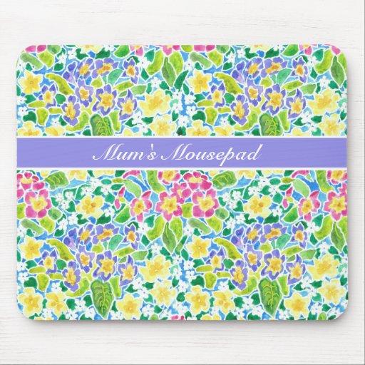 Personalizable, primaveras bonitas Mousepad de la
