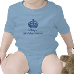 Personalizable - príncipe (añada el nombre de su m traje de bebé