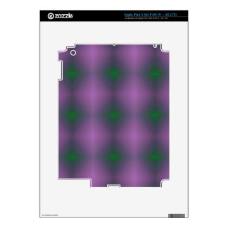 Personalizable Purple Green Hip Patterned Fractal Skin For iPad 3