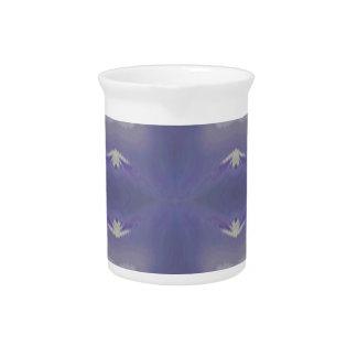 Personalizable  Purple Trendy Modern Pattern Pitcher