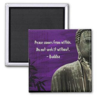 Personalizable púrpura del imán de Buda