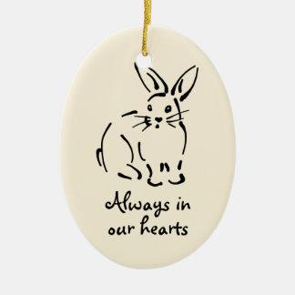 Personalizable Rabbit Memorial Ornament