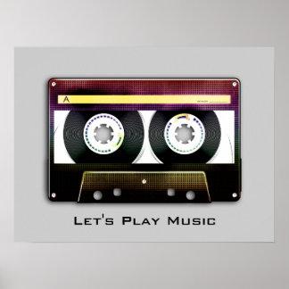 Personalizable Retro Compact Audio Cassette Poster