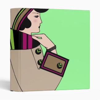 """Personalizable retro del vintage de la mujer del carpeta 1"""""""