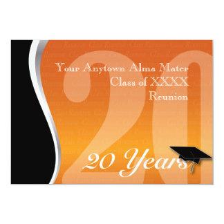 Personalizable reunión de antiguos alumnos de 20 invitación 12,7 x 17,8 cm