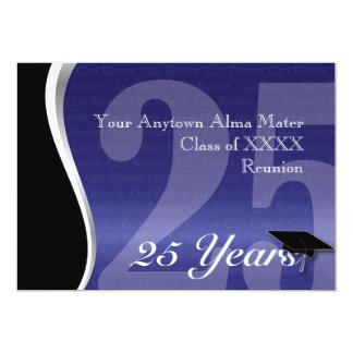 """Personalizable reunión de antiguos alumnos de 25 invitación 5"""" x 7"""""""