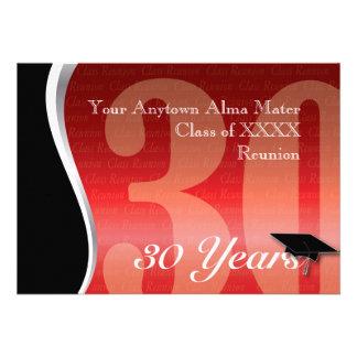Personalizable reunión de antiguos alumnos de 30 a anuncio