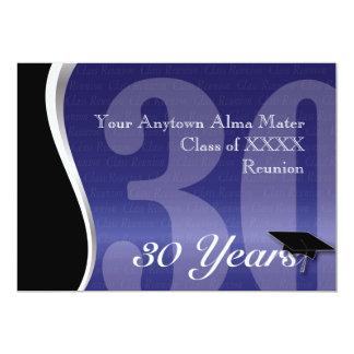 """Personalizable reunión de antiguos alumnos de 30 invitación 5"""" x 7"""""""