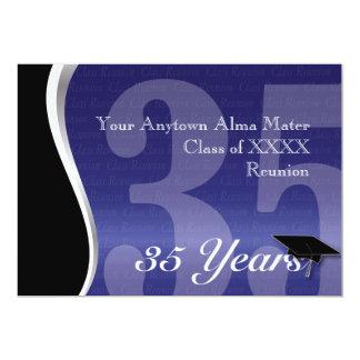 Personalizable reunión de antiguos alumnos de 35 comunicado personal
