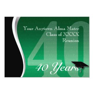 """Personalizable reunión de antiguos alumnos de 40 invitación 5"""" x 7"""""""