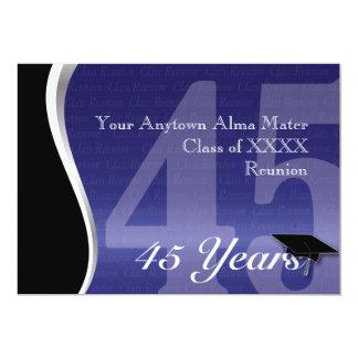Personalizable reunión de antiguos alumnos de 45 invitacion personal
