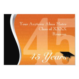 Personalizable reunión de antiguos alumnos de 45 invitación personalizada
