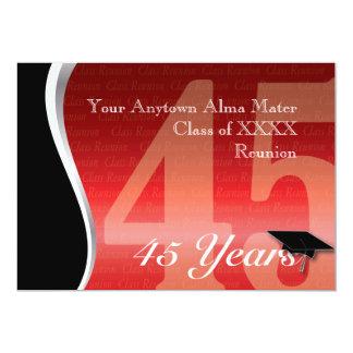 """Personalizable reunión de antiguos alumnos de 45 invitación 5"""" x 7"""""""