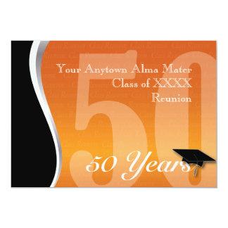 Personalizable reunión de antiguos alumnos de 50 invitación 12,7 x 17,8 cm