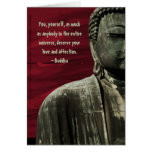 Personalizable rojo de la tarjeta de la estatua de