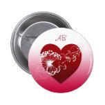 Personalizable: Rojo del corazón del amor del dien Pins