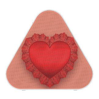 Personalizable rojo del corazón del cordón altavoz bluetooth