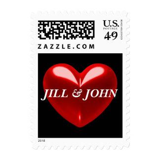 Personalizable rojo del corazón envio
