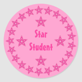 Personalizable rosado bonito de la recompensa del pegatina redonda