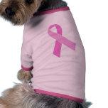 Personalizable rosado de la cinta ropa de perros