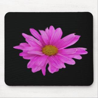 Personalizable rosado de la flor de la margarita d tapete de ratones