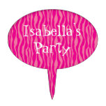 Personalizable rosado del modelo del estampado de decoraciones para tartas