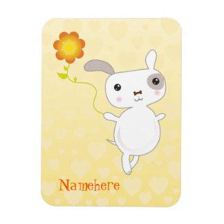 Personalizable: Salto del perrito de Kawaii Iman De Vinilo